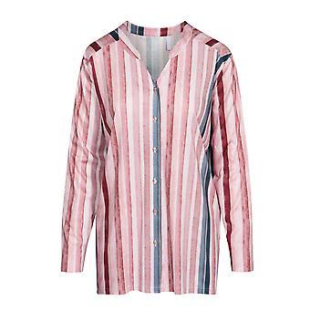 Rsch 1194537-16397 Femme-apos;s Curve Multicoloured Striped Cotton Pyjama Top