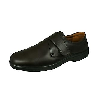 Sledgers Benedict Mens Hook and Loop Leather Shoes - Brown