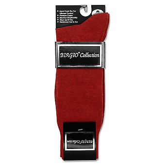 1 Pair of Biagio Solid Solid Men's COTTON Dress SOCKS