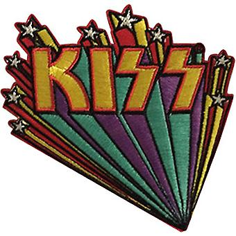 Patch - Kiss - Logo Star Banners Icon-On p-4629