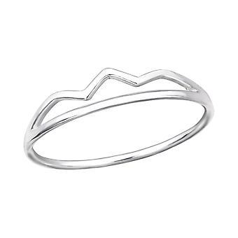 Corona - 925 Sterling Silver pianura anelli - W30508X