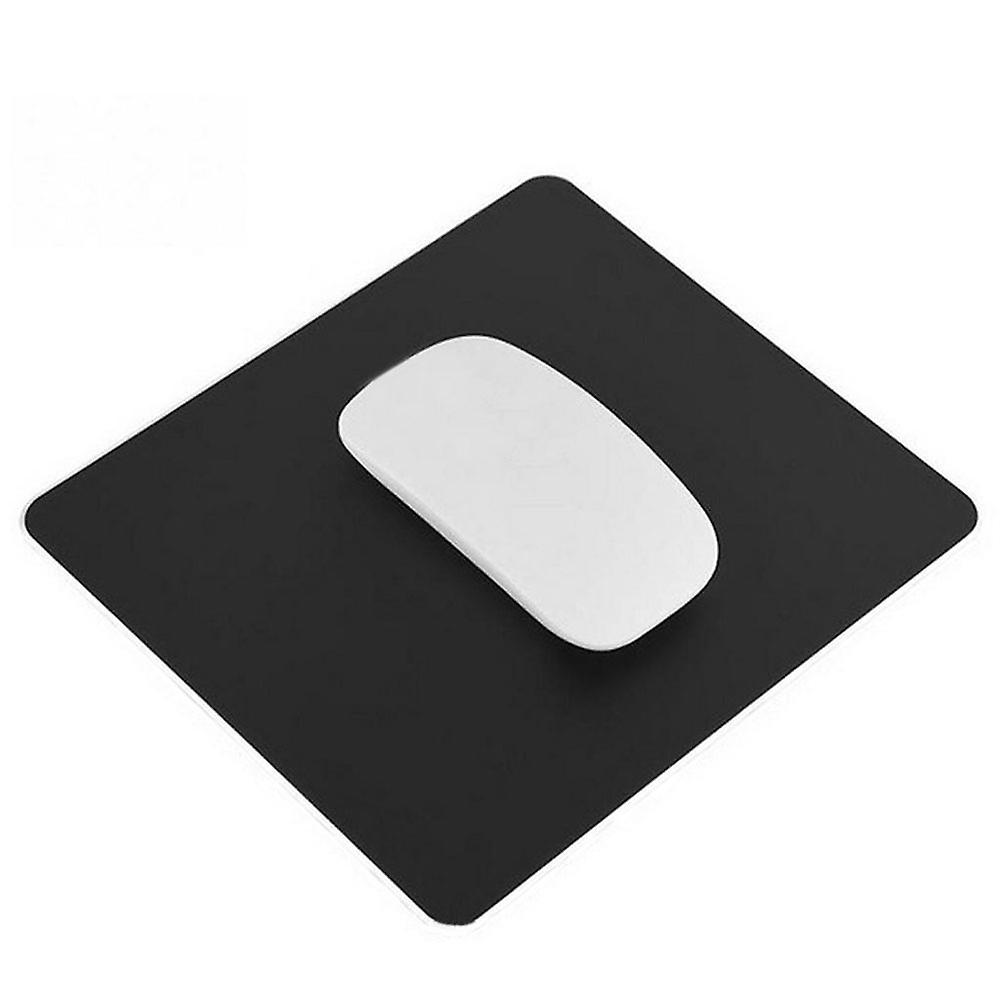 TRIXES Aluminium Mouse Mat Non-Slip Metal Pad Waterproof 22 x 18cm Black Colour