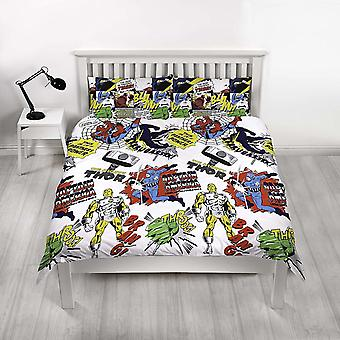 Marvel Comics Scribble Double Duvet Cover