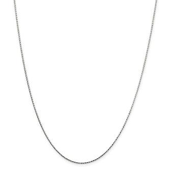 925 Sterling Silver 1.25mm Sparkle Cut Round Spiga Chain Necklace Jewelry Gifts for Women - Length: 16 to 24
