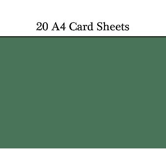 20 Fir Green A4 Card Sheets for Crafts | Coloured Card for Crafts