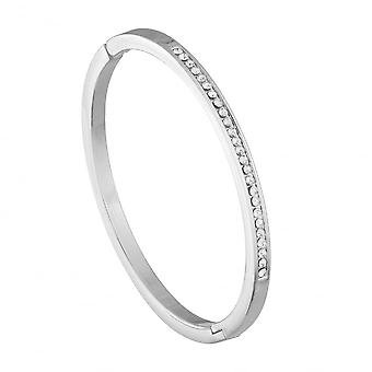 Belle et Beau Silver Plated Crystal Line Bangle