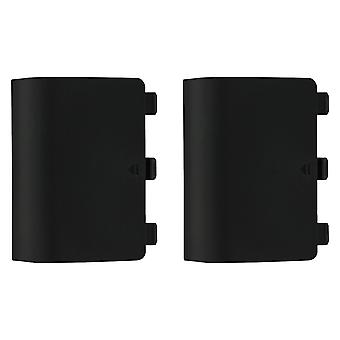 Replacement battery back cover holder for black microsoft xbox one controllers ? 2 pack black