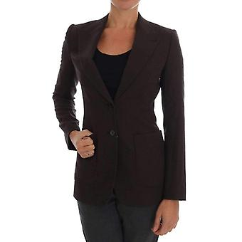 Dolce & Gabbana Brown Wool Cotton Two Button Blazer Jacket -- DR12891120