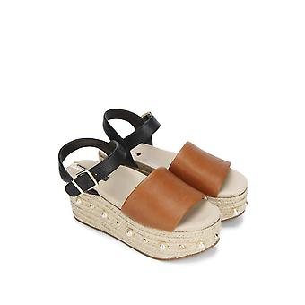 Kenneth Cole New York Women-apos;s Indra Studs Platform Espadrille Sandal avec Ank...