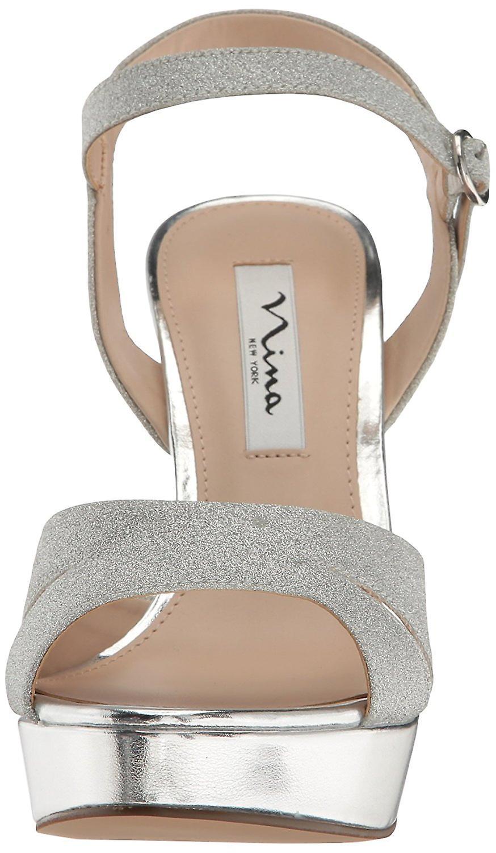 Nina Womens Shara Otwórz pasek na specjalne okazje kostki sandały xGTES