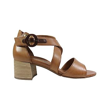 Paul Green 7404-01 Tan Leather Womens Heeled Sandals