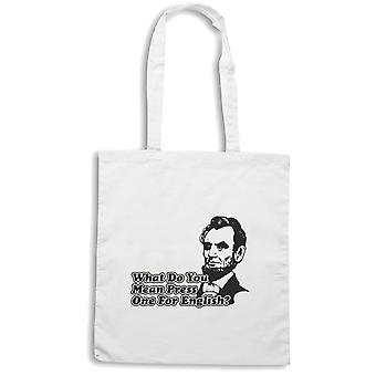 White shopper bag trk0628 lincoln