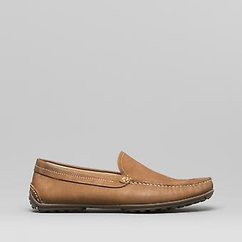 Anatomic & Co. Lucas Mens Leather Loafers Cognac