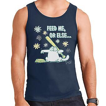 Simon's Cat Feed Me Or Else Men's Vest