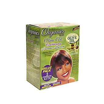 Africa's Best Organic Olive Oil Relaxer Value Kit Regular