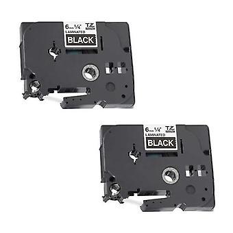 Kaseta Prestige™ kompatybilna tz-315/tze-315 biała na czarnych taśmach etykietowych (6mm x 8m) do maszyn do drukowania etykiet p-touch brata