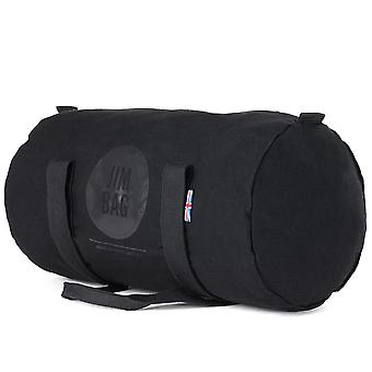 JIMBAG Black Barrel Sports Fitness Gym Overnight Travel Bag