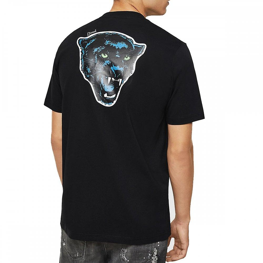 Diesel T-just-b12 Back Panther Print T Shirt