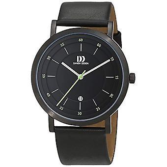 Danish Design 3314528-men's wristwatch, leather, color: black