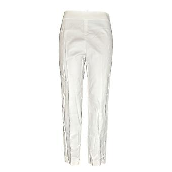 Vince Camuto Women's Pants Double weave Side Zip Straight Leg Ivory A306708