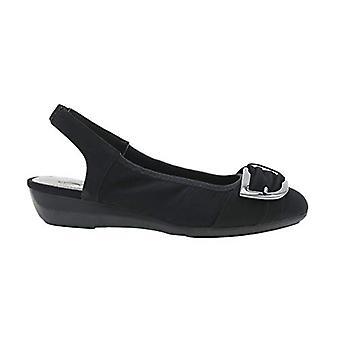 Impo Womens Daela Fabric Closed Toe SlingBack Slingback Flats, Black, Size 9.0