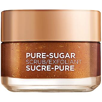 L'Oréal Paris Skin Care Pure Sugar Face Scrub with Grapeseed, Dull Skin to Smooth and Glow, 50 ml