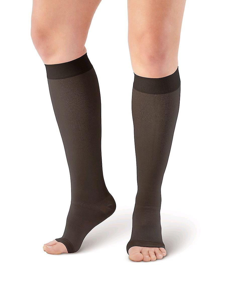 Pebble UK Medical Weight Toeless Compression Socks [Style P201] Black  L