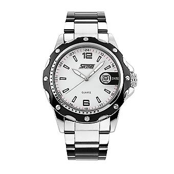 Skmei Mens Watch Stunning Analogue Watches Silver Stainless Steel Date SK0992