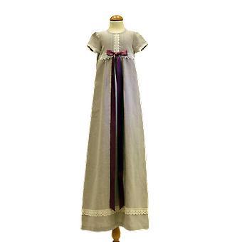 Dopklänning I Lin, Ljung-rosa Bred Rosett.  Grace Of Sweden
