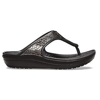 Crocs Women's Sloane Metallic Platform Wedge Flip Flop
