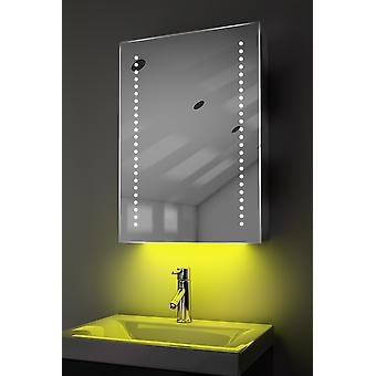 Demist Cabinet With LED Under Lighting, Sensor & Internal Shaver k351w