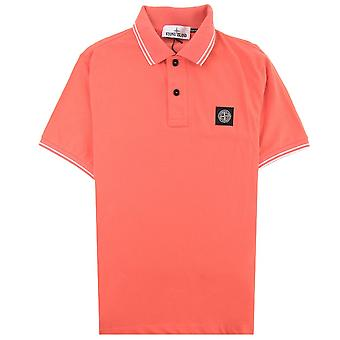Stone Island 22S18 Slim Fit Polo Shirt Oranje Rood V0037