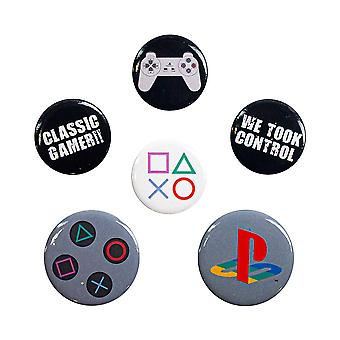 PlayStation, 6x Pins