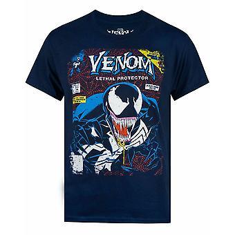 Marvel Venom Comic Cover Men's Navy T-paita