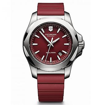 Victorinox Swiss Army Watches 241719.1 I.n.o.x Red Rubber& Steel Swiss Watch