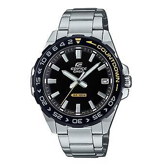 カシオ Efv-120db-1avuef Edifice ブラック & シルバー ステンレス スチール メン 's 腕時計