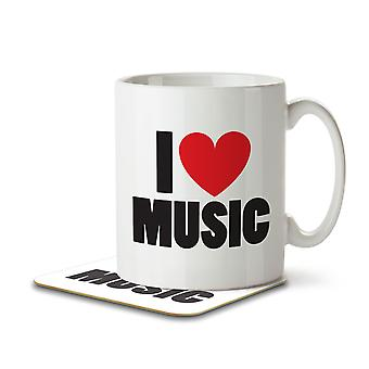 I Love Music - Mug and Coaster