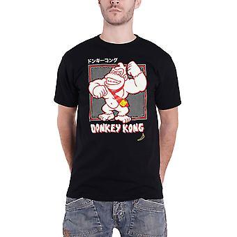Donkey Kong T Shirt Smashing japanischelogo neue offizielle Herren Schwarz