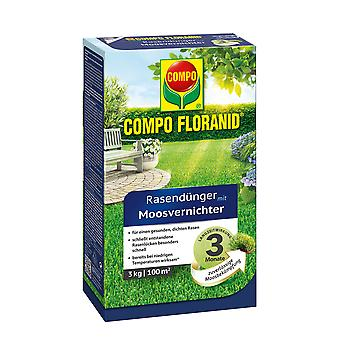COMPO Floranid® lawn fertilizer with moss destroyer, 3 kg