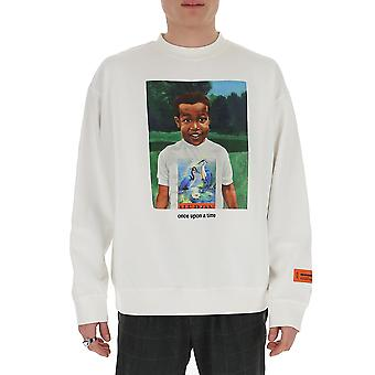 Heron Preston Hmba007s208960190188 Men's White Cotton Sweatshirt