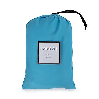 Loft 25 Essentials Sleeping Bag Liner | Camping Travel Sheet | Pillow Pocket | Hotel Business Holiday Use | Microfibre | Reusable and Lightweight (Turquoise)