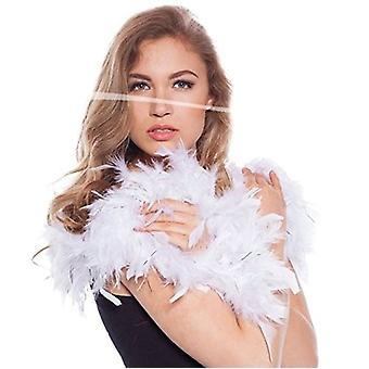 Pióro Boa BOA biały Federschal wiosna Peleryna z silver frędzle 180 cm