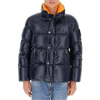 After Label Al013790 Men's Blue Polyester Down Jacket