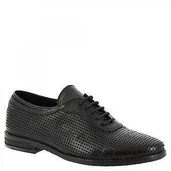 ليوناردو أحذية النساء & أبوس؛ق اليدوية الدانتيل المنبثقة الأحذية في الجلد العجل المفتوح الأسود
