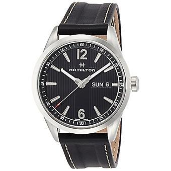 Hamilton analoog kwarts mannen horloge met lederen H43311735