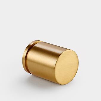 Brass Cylinder Pull - Gold