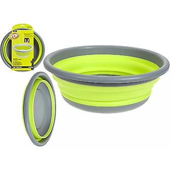 Summit Pop! 7L Collapsible Large Round Bowl Green/Grey