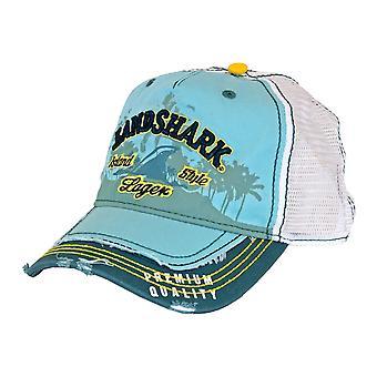 Landshark Heavy Stone Wash Mesh Trucker Hat