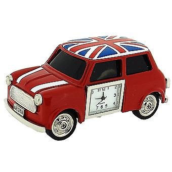 Miniature Union Jack  British Red Mini Cooper Novelty Collectors Clock 0445