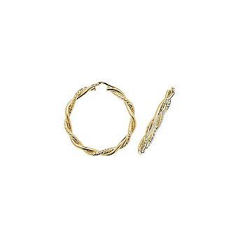 Pendientes de aro criollo retorcido redondo de 45 mm de eternidad de oro grande de 45 mm